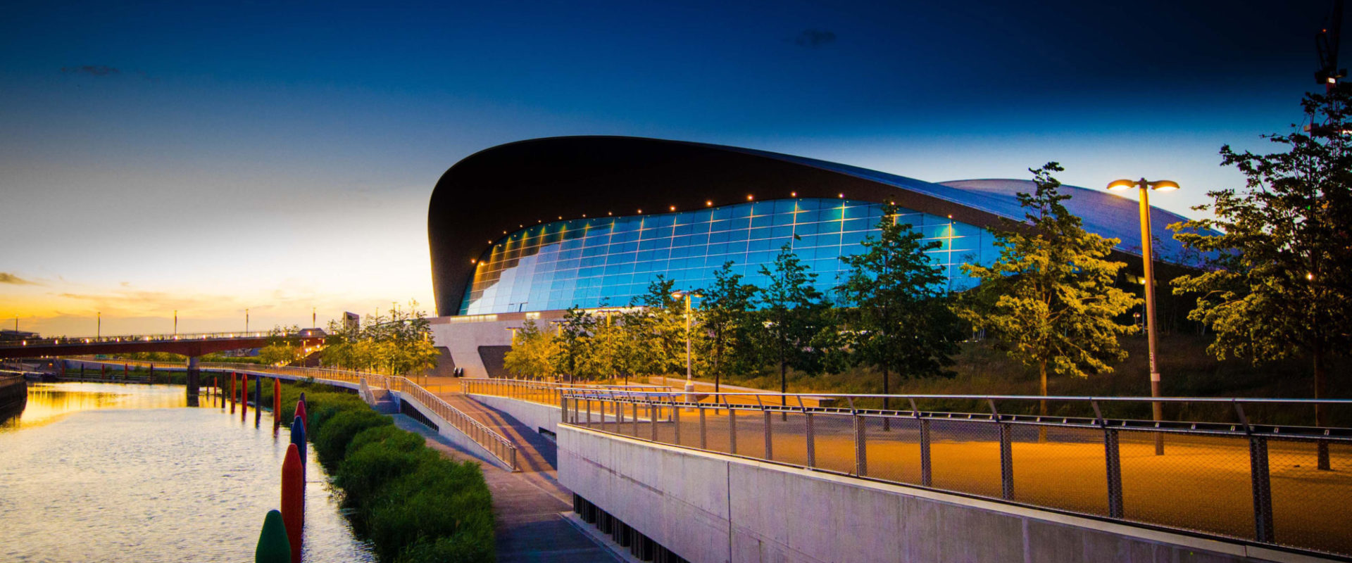 Photograph of the London Aquatics Centre, Olympic park, Startford, East London