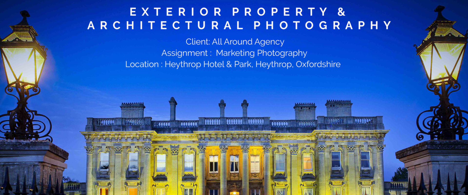 Architectural Marketing Photograph for Heythrop Park & Hotel, Oxfordshire